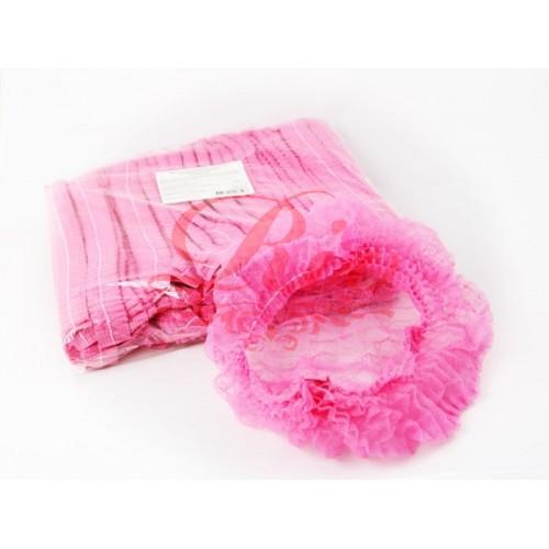 Одноразовая шапочка шарлота уп 100 шт (розовая)