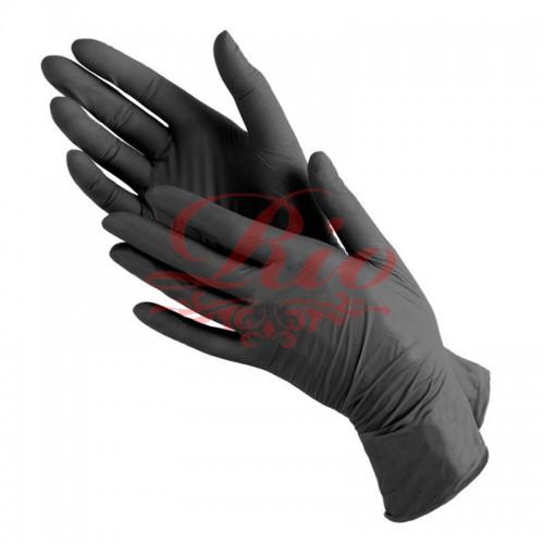 Перчатки  нитрил черные размер - М 200 шт