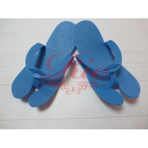 Одноразовые тапочки вьетнамки изолон 25 пар/уп. Синие