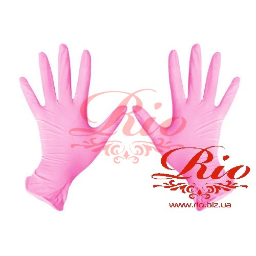 Перчатки нитриловые Medicom розовые S 100 шт