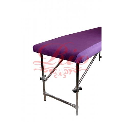 Чехол флисовый на кушетку комбинированный  фиолетовый - сиреневый 100х220 см