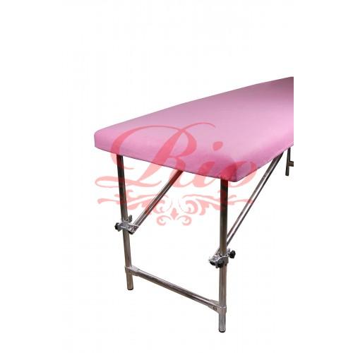 Чехол флисовый на кушетку 0,8х2 м розовый