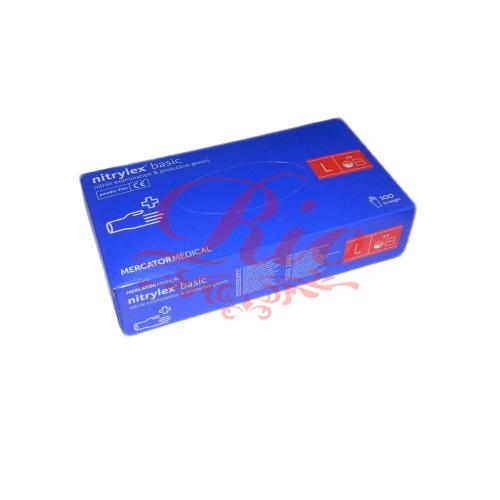 Перчатки Mercator Medical  нитриловые голубые  L