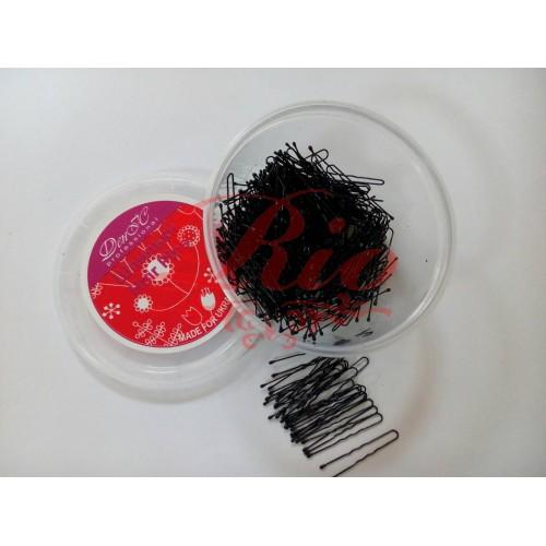 Шпильки для волос черные 100шт 4.5см