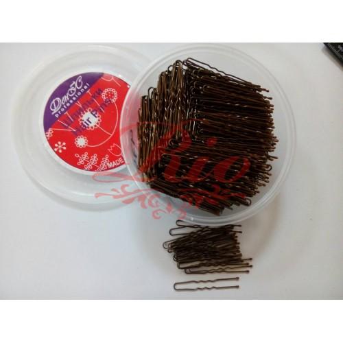 Шпильки для волос коричневые 650шт 5см